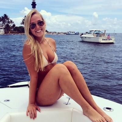 College blonde in tiny bikini