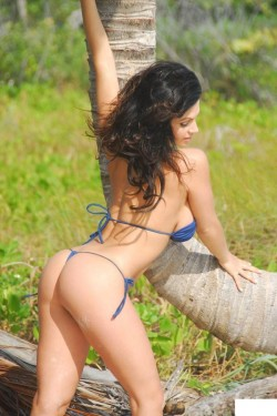 Denise Milani in the wild nature