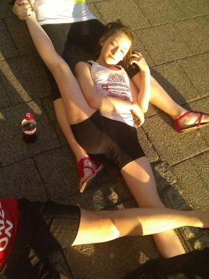 I'm doing the splits!
