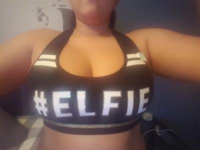 Just a bra....