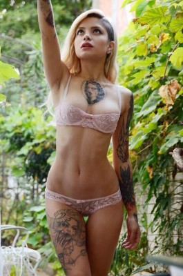 Lingerie and tattoos