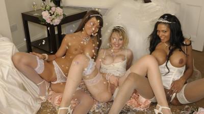 Lovely wedding photo.