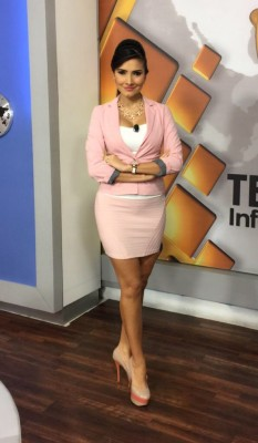 Massiel Carrillo - Light pink suit separates