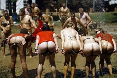 Muddy line up