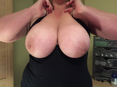 My wife's huge boobs what do you think?