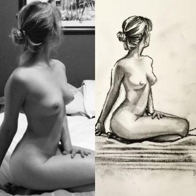 Nude original vs self portrait