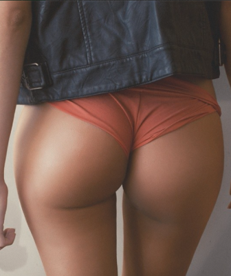 Orange panties and dat gap