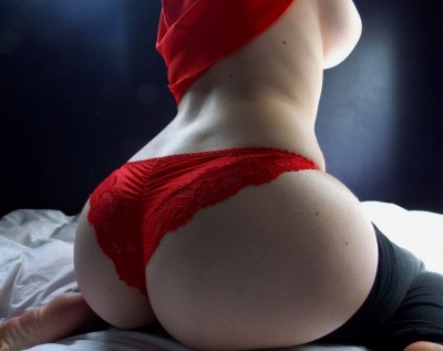 Pale ass in red.