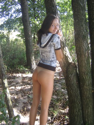 Petite russian girl bottomless