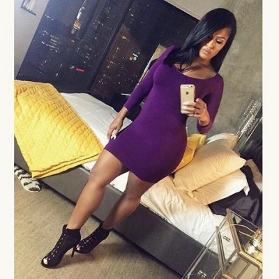 Plum Seamless Perfect Fit Dress from Hot Miami Styles