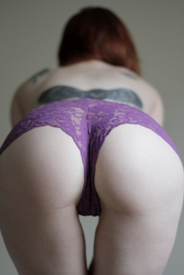 Purple lacy panties