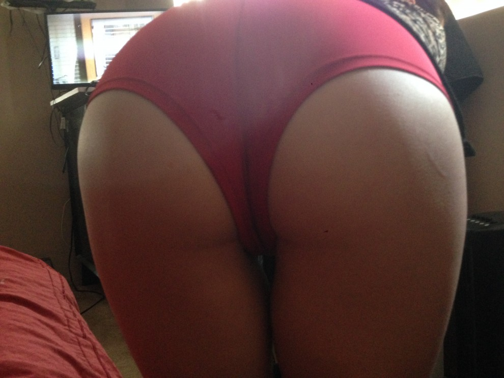 Red panties bent over for you. [f]