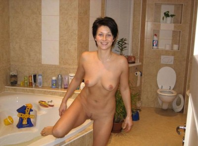 She has toys in her bathtub