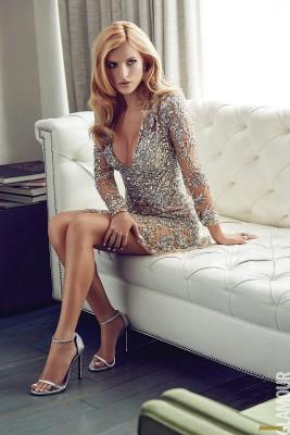 Shimmering silver dress