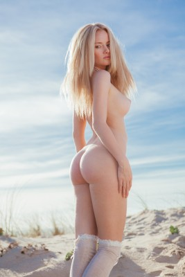 Standing on the dunes