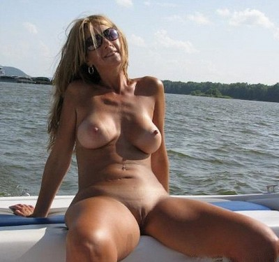 Sun tanning on a boat
