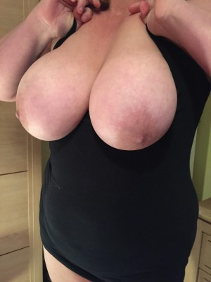 Thanks for the comments here is another picture of my wife's huge boobs.