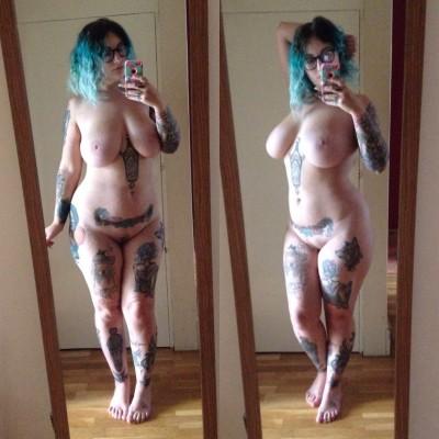 Thick tattooed beauty