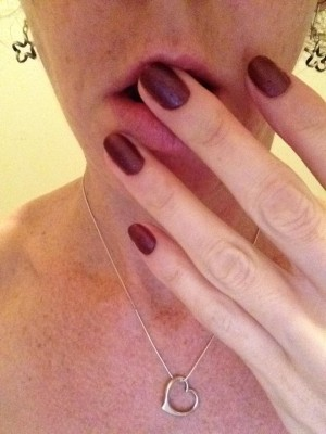 This polish colour is called naughty girl