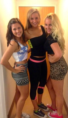 Three College Cuties