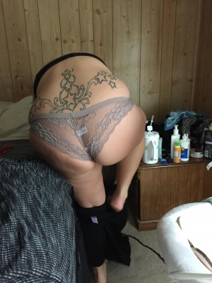 Wife getting ready for work