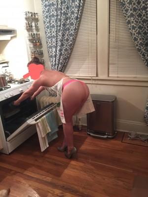 Wife making dinner