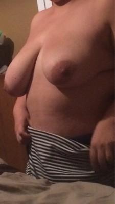 Wife's huge tits