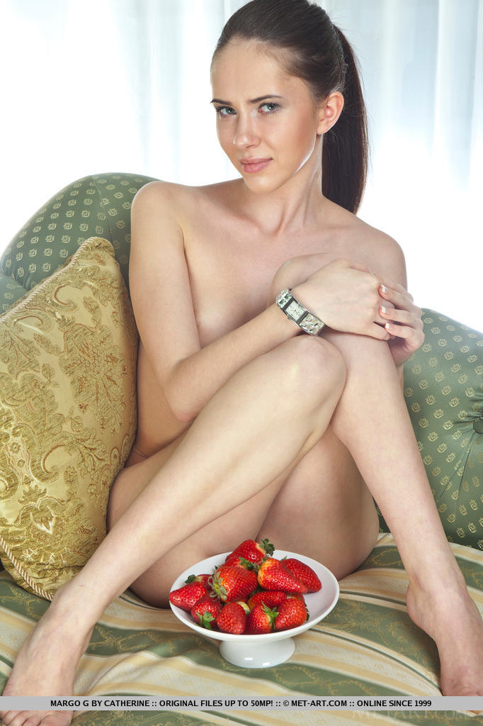 With her sweet and innocent personality super smooth pale skin and perky tits:
