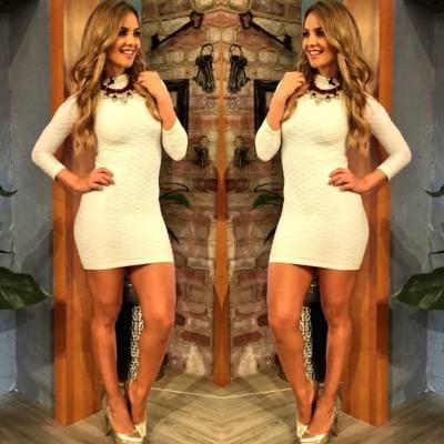 Ximena Córdoba - White bodycon dress