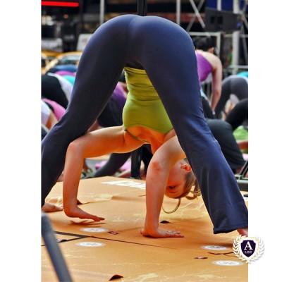 doing the yoga