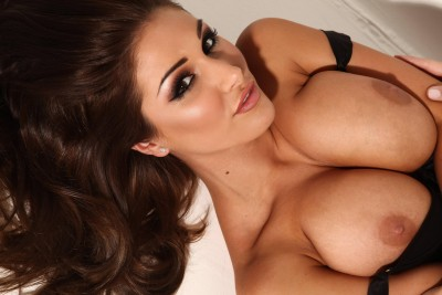 Lucy Pinder on her back (X-post /r/Page3Glamour)