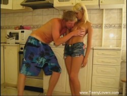 Lustful intercourse in kitchen