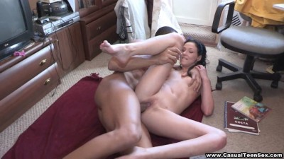 Teeny loves black cock within