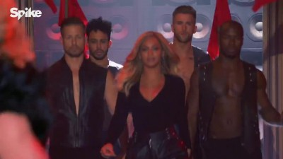 Beyonce brought the rising and falling action to Lip Sync Battle