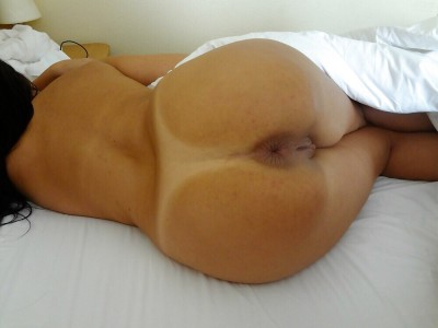Amazing tan lines + butthole