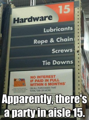 Apparently there is a party at Home Depot