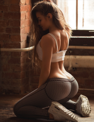 Awesome on her knees