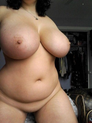 Beautiful curvy chick with a belly