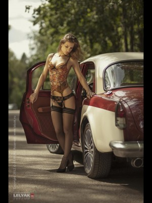 Beauty with a Chevy Bel Air