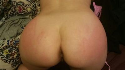 Daddy spanked me hard like bad girl I am