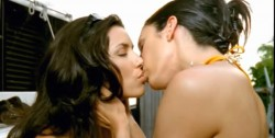 Eva Longoria (Left) Lesbian Kiss