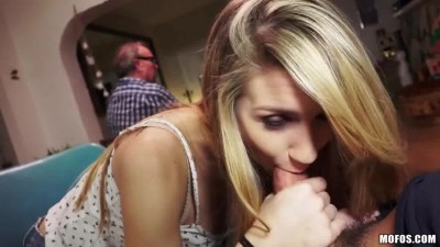 Sucking off Daddy friend behind his back- gfycat