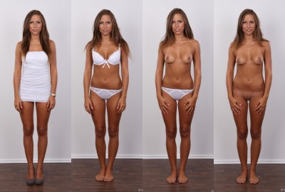 Four states of dress to undress