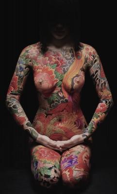 Fully tattooed