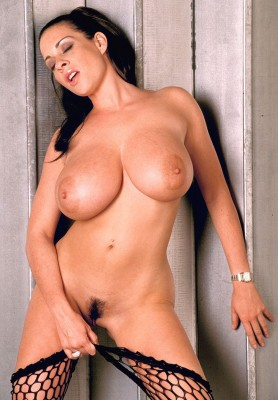 Linsey Dawn Mckenzie pulling her stockings