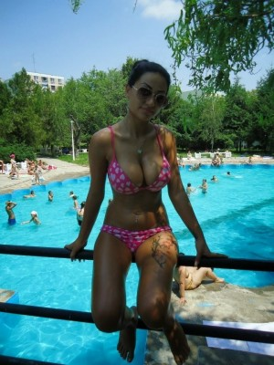 Hot pool girl