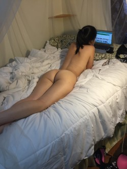 Just lying on the bed
