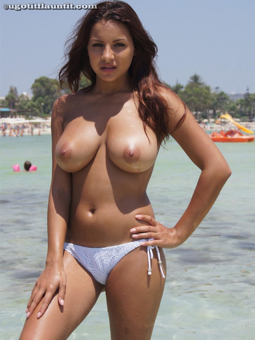 Lacey Banghard in white bikini bottoms (X-post /r/Lacey_Banghard)