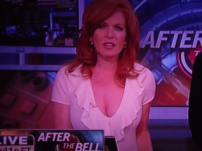 Liz Claman of Fox News DD Bust