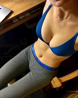 Matching blue underwear